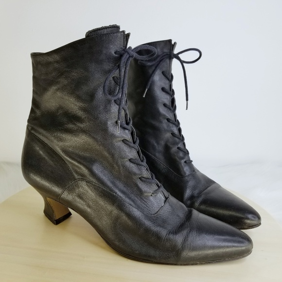 vtg 80s90s NINE WEST Victorian Witch Boots Bootie